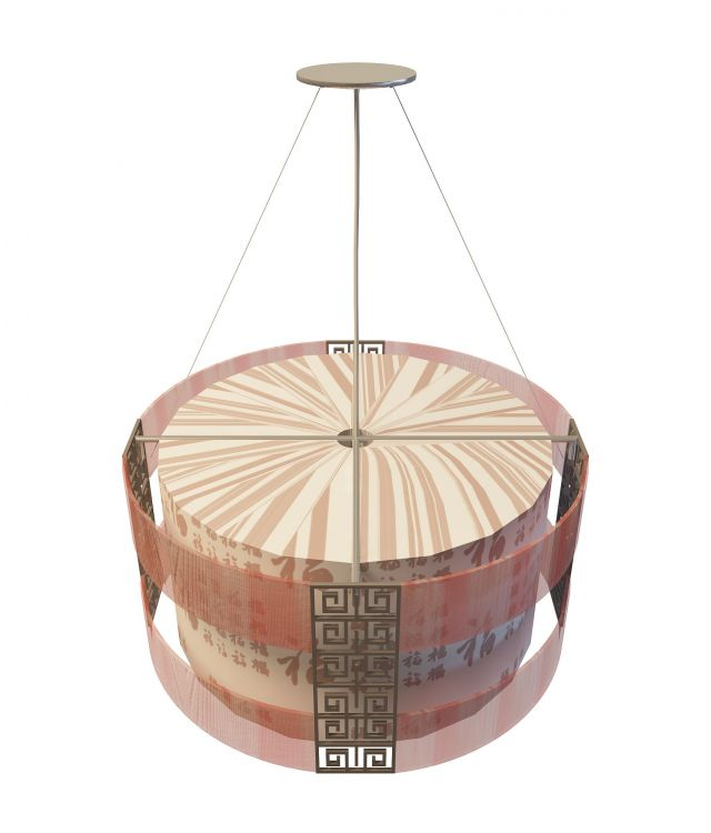 Chinese Style Pendant Lighting 3d Model 3ds Max Files Free