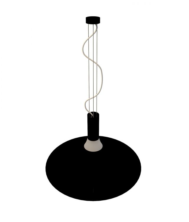 Black Pendant Lighting Fixture 3d Model 3ds Max Files Free