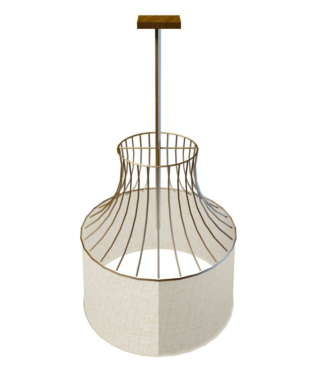 Cage Pendant Light Fixture 3d Model 3ds Max Files Free