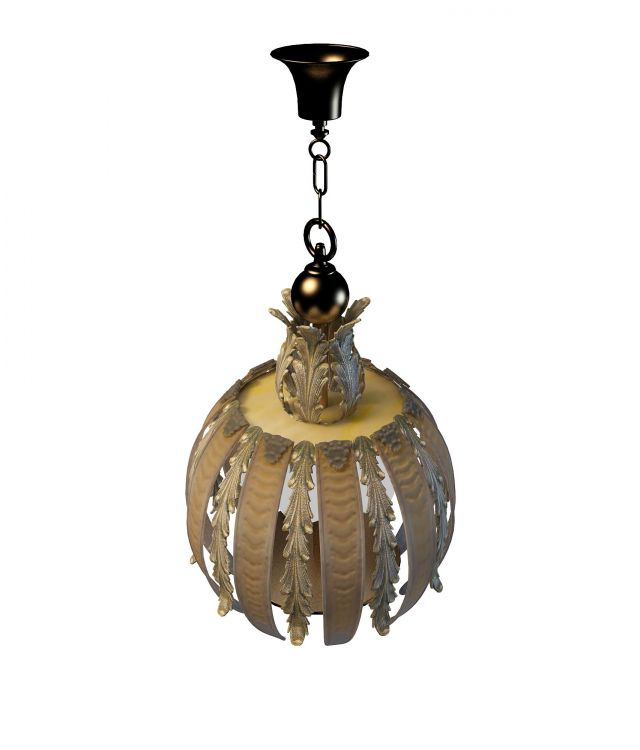 Antique Pendant Lighting 3d Model 3ds Max Files Free