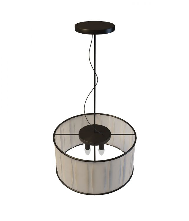4 Light Drum Pendant Lighting 3d Model 3ds Max Files Free