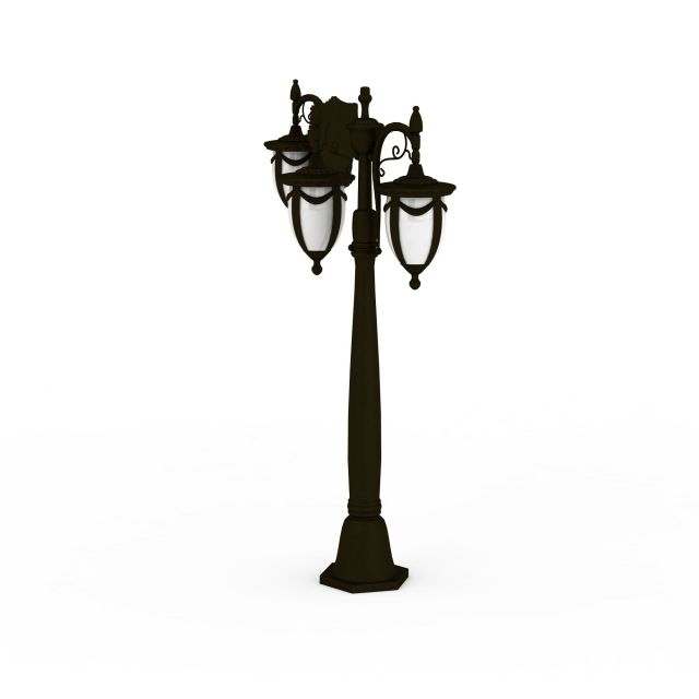 Wrought Iron Street Lamp And Wall Lamp 3d Model 3ds Max