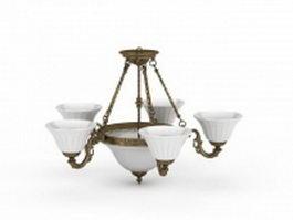 Alcantara chandelier 3d model