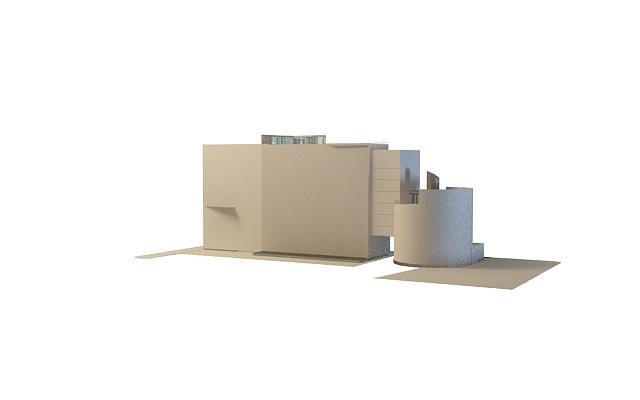 Commercial complex architecture 3d model