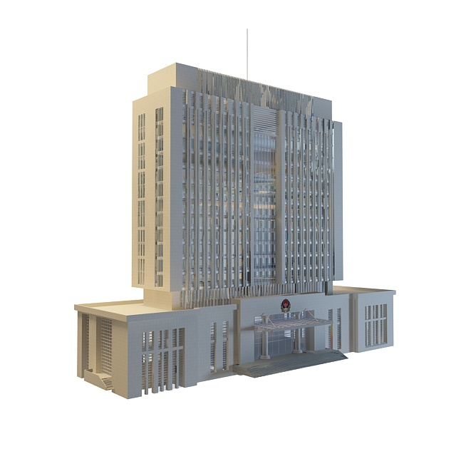 Chinese government office building 3d model 3ds max files 3d house builder online