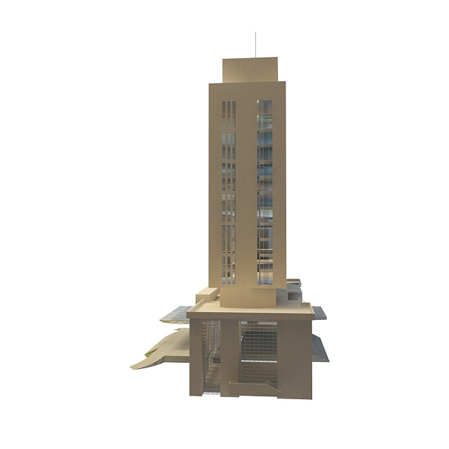 Chinese government office building 3d rendering