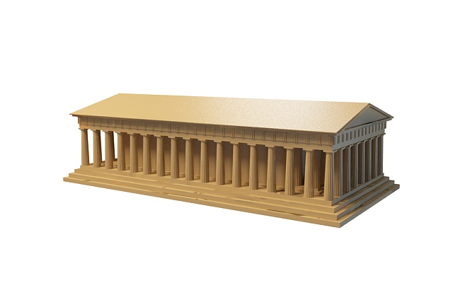 Ancient Roman Architecture 3d Model 3ds Max Files Free