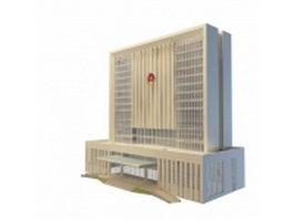 Police department building 3d model
