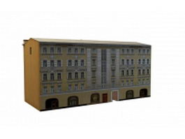 Vintage building in moscow 3d model