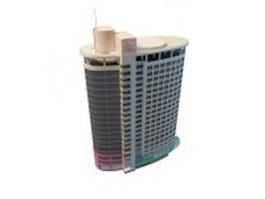 Modern hospital building 3d model