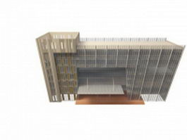 Office building architecture design 3d model