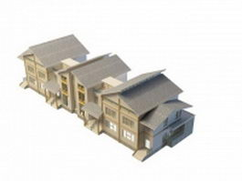 Townhouse architecture 3d model