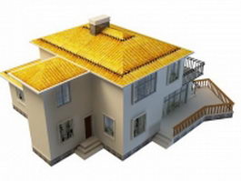 Two storey villa 3d model