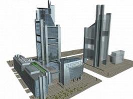 Urban complex architecture 3d model