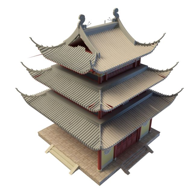Chinese Pagoda 3d Model 3ds Max Files Free Download