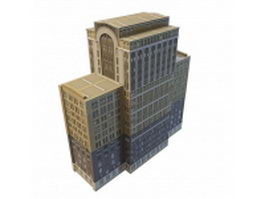 Old office building architecture 3d model
