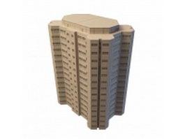 Urban office building architecture 3d model