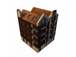 Apartment building shop 3d model