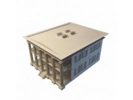 Greek revival style home 3d model