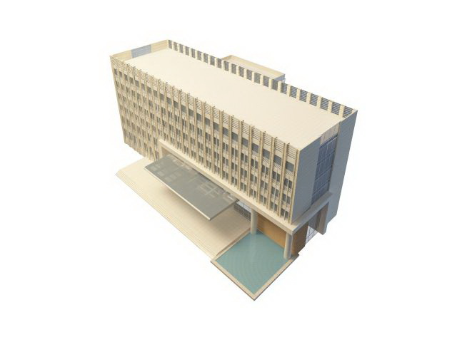 Hotel building with swimming pool 3d model 3ds max files free download modeling 31004 on cadnav for Swimming pool 3d model free download