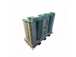 Residential blocks 3d model