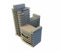 Modern commercial complex 3d model