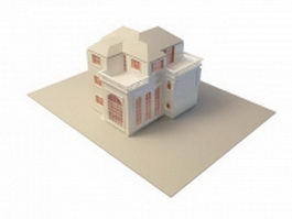 Three-story villa 3d model