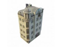 Old apartment building 3d model