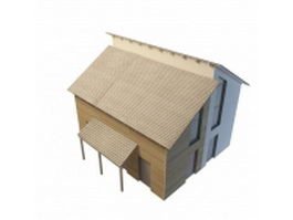 Country cabin inn 3d model