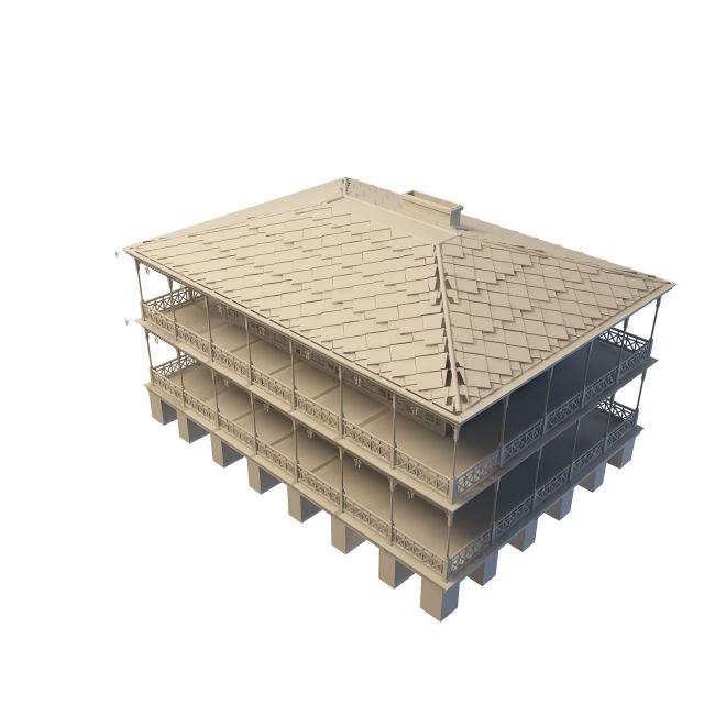 Terrace farmhouse 3d model 3ds max files free download for Terrace farming model