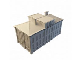 Old post office building 3d model