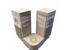 Corner office building 3d model