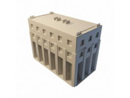 County government office building 3d model