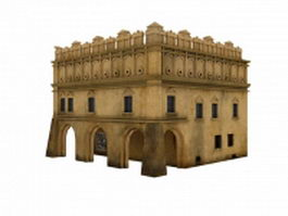 Ancient middle eastern architecture 3d model