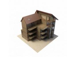 Luxury apartment house 3d model