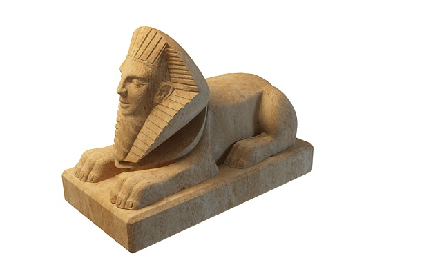 Egyptian Sphinx Statue 3d Model 3ds Max Files Free