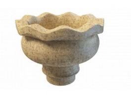 Stone urn planter 3d model