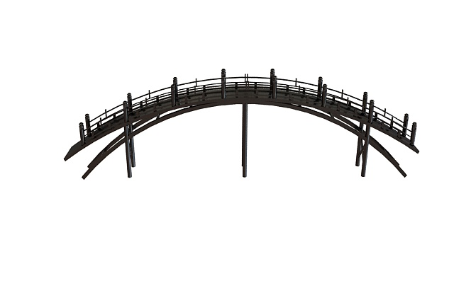 pedestrian timber bridge 3d model 3ds max files free download