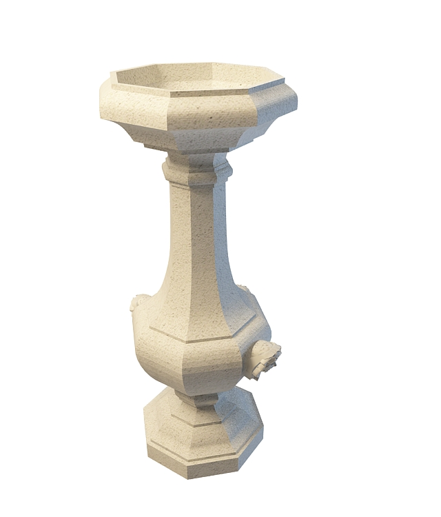 Urn Garden Ornament 3d Model 3ds Max Files Free Download