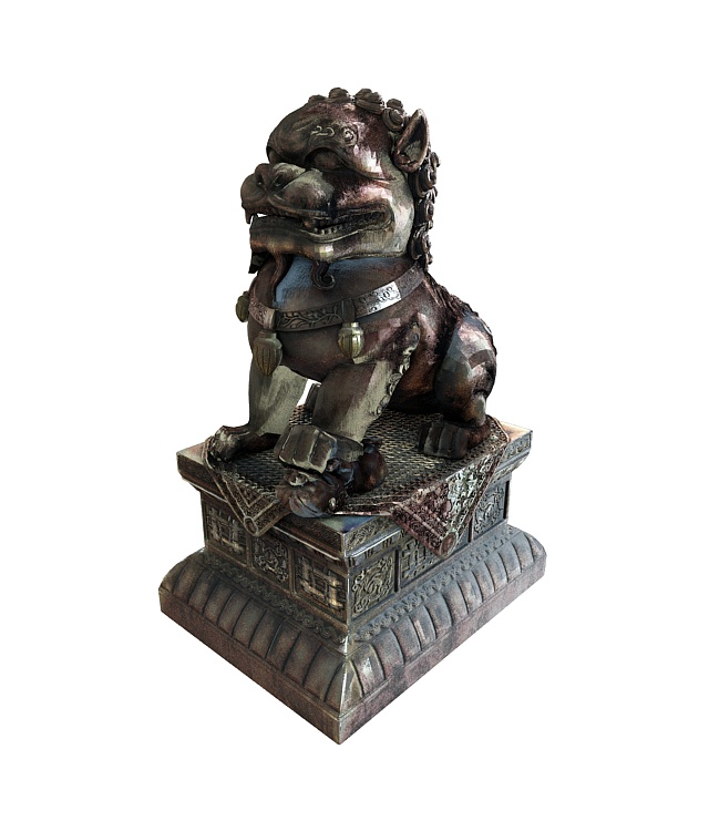 Chinese Lion Statue 3d Model 3ds Max Files Free Download