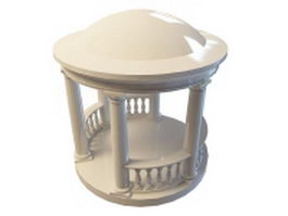 Greek gazebo 3d model