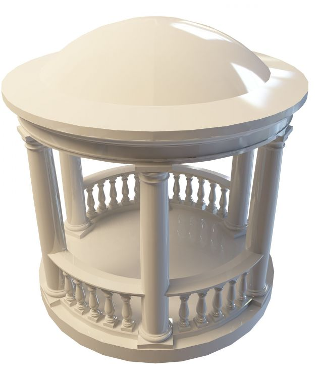Greek Gazebo 3d Model 3ds Max Files Free Download