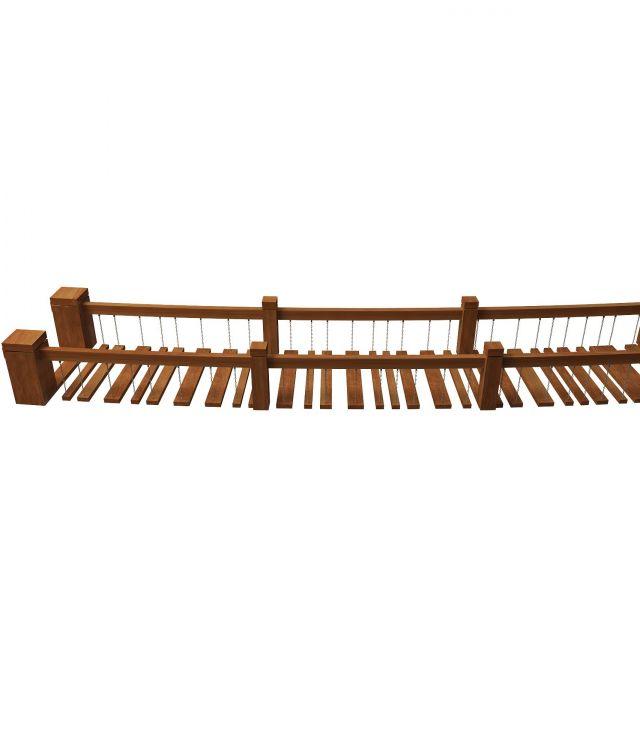wooden rope bridge 3d model 3ds max files free download