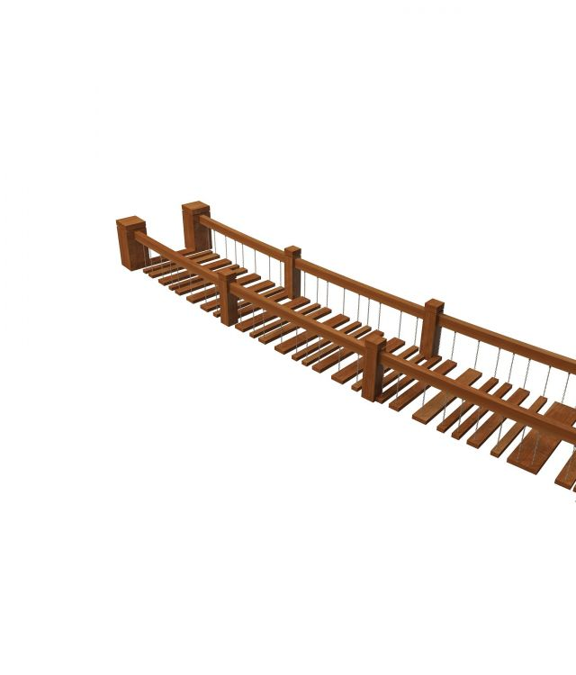 Wooden Rope Bridge 3d Model 3ds Max Files Free Download