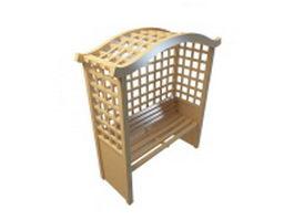 Trellis bench 3d model