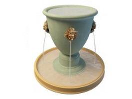 Urn cascade fountain 3d model