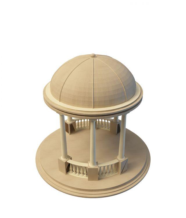 Roman Style Pavilion 3d Model 3ds Max Files Free Download