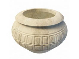 Antique stone urn 3d model
