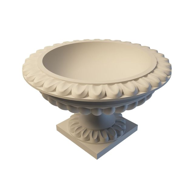 Carved Limestone Urn 3d Model 3ds Max Files Free Download