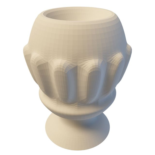 Carved Stone Flowerpot 3d Model 3ds Max Files Free
